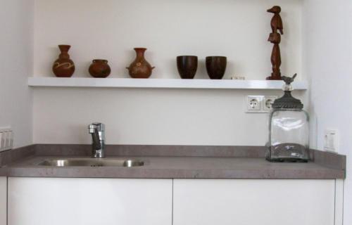 koffiecorner met inbouw koelkast
